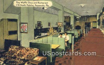 Tiny Waffle Shop & Restaurant - Pensacola, Florida FL Postcard