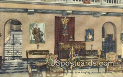 John Ringling Mansion - Sarasota, Florida FL Postcard