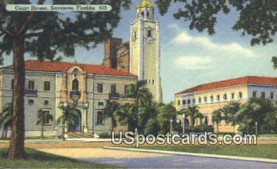 Court House - Sarasota, Florida FL Postcard