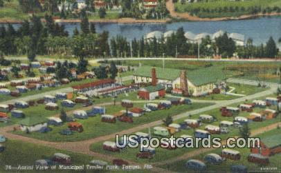 Municipal Trailer Park - Tampa, Florida FL Postcard