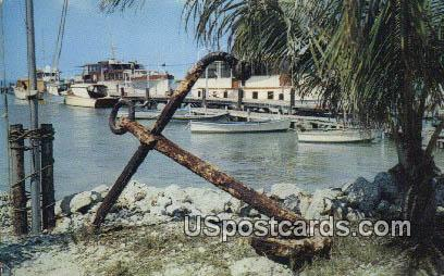 Thompson's Dock at Marathon - Florida Keys Postcards, Florida FL Postcard