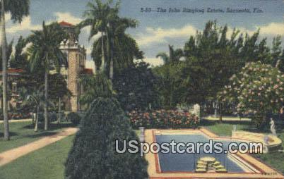 John Ringling Estate - Sarasota, Florida FL Postcard