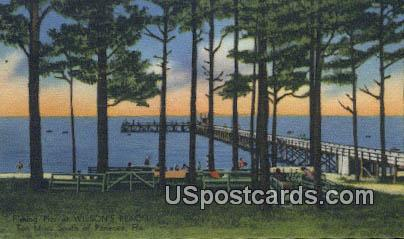 Fishing Pier, Wilson's Beach - Panacea, Florida FL Postcard