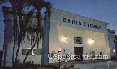 Bahia Temple - Orlando, Florida FL Postcard