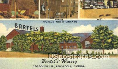 Bartel's Winery - Pensacola, Florida FL Postcard