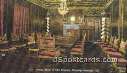 Dining Room, John Ringling Mansion - Sarasota, Florida FL Postcard