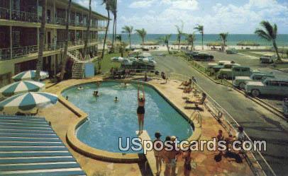 Azure Tides Hotel Court - Sarasota, Florida FL Postcard