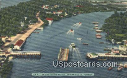 Indian Rocks Bridge - Florida FL Postcard