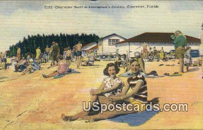Clearwater Beach, Everingham's Pavilion - Florida FL Postcard