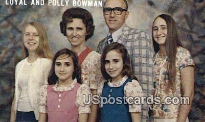 Loyal & Polly Bowman - Melrose, Florida FL Postcard