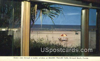Seaside Trailer Park - Ormond Beach, Florida FL Postcard