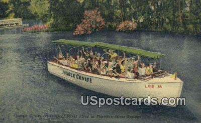 Jungle Cruise - Silver Springs, Florida FL Postcard