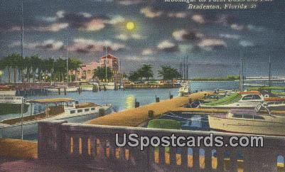 Yacht Basing & Pier - Bradenton, Florida FL Postcard