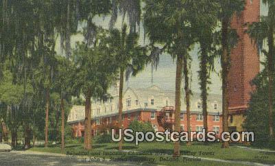 Imposing Chaudoin Hall, John B Stetson U - De Land, Florida FL Postcard