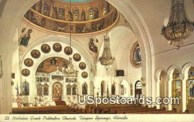 St Nicolas Greek Orthodox Church - Tarpon Springs, Florida FL Postcard