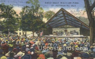 Band Shell Williams Park - St Petersburg, Florida FL Postcard