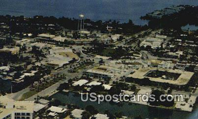 St Armonds Circle Fabulous Shopping Area - Sarasota, Florida FL Postcard