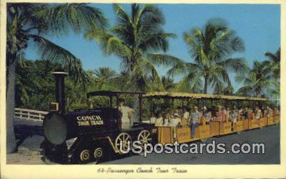 64 Passenger Conch Tour Train - Key West, Florida FL Postcard