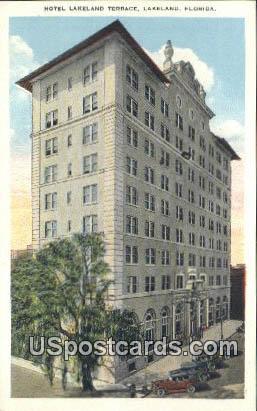 Hotel Lakeland Terrace - Florida FL Postcard