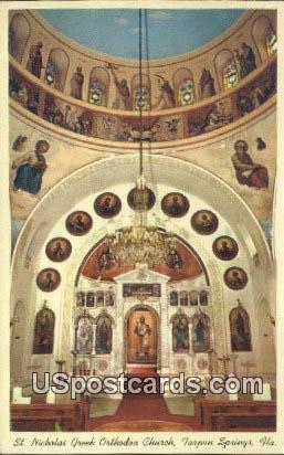 St Nicholas Greek Orthodiox Church - Tarpon Springs, Florida FL Postcard