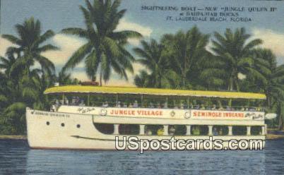 Jungle Queen II - Fort Lauderdale Beach, Florida FL Postcard