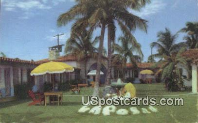La Posada, Motor Hotel - Coral Gables, Florida FL Postcard