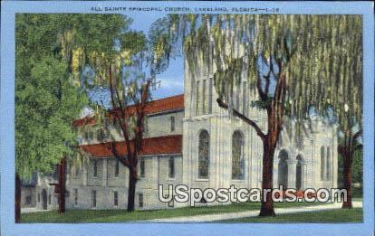 All Saints Episcopal Church - Lakeland, Florida FL Postcard