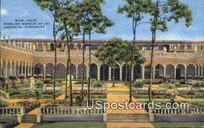 Ringling Museum of Art, Main Court - Sarasota, Florida FL Postcard