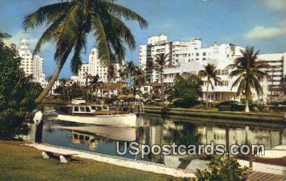 Indian Creek, Hotels - Miami Beach, Florida FL Postcard