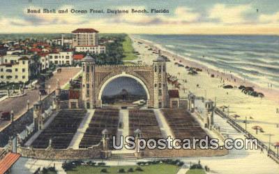 Band Shell, Ocean Front - Daytona Beach, Florida FL Postcard