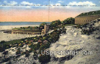 Fort Barrancas, San Carlos - Pensacola, Florida FL Postcard
