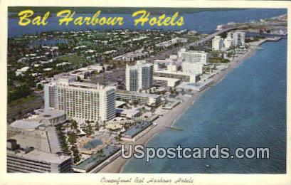 Bal Harbour Hotels - Miami Beach, Florida FL Postcard