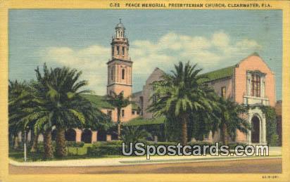 Peace Memorial Presbyterian Church - Clearwater, Florida FL Postcard