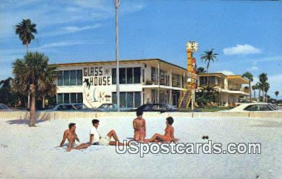 Glass House Apartment Motel - Clearwater Beach, Florida FL Postcard