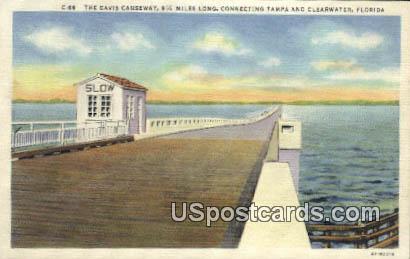 Davis Causeway - Clearwater, Florida FL Postcard