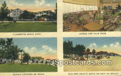 Clearwater Beach Hotel - Florida FL Postcard