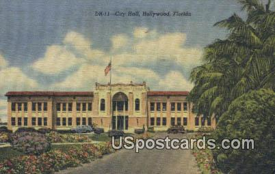 City Hall - Hollywood, Florida FL Postcard
