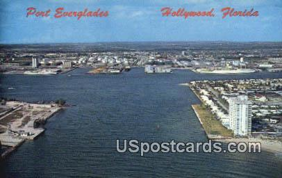 Port Everglades - Hollywood, Florida FL Postcard