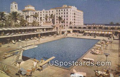 Cabana Terrace, Hollywood Beach Hotel - Florida FL Postcard