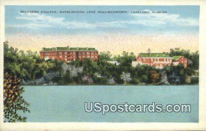 Southern College, Lake Hollingsworth - Lakeland, Florida FL Postcard