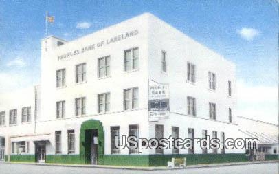 Peoples Bank of Lakeland - Florida FL Postcard