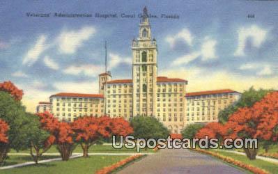 Veteran's Administration Hospital - Coral Gables, Florida FL Postcard