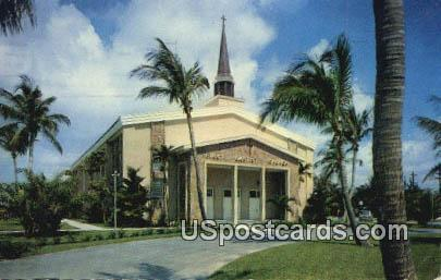 First Baptist Church - Delray Beach, Florida FL Postcard