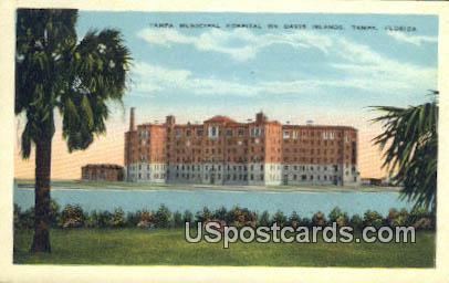 Tampa Municipal Hospital - Florida FL Postcard