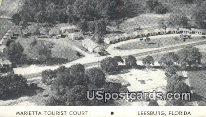 Marietta Tourist Court - Leesburg, Florida FL Postcard