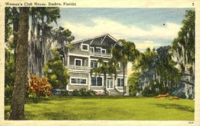 Woman's Club House - Ruskin, Florida FL Postcard