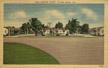 Kozy Kottage Kourt - Riviera Beach, Florida FL Postcard