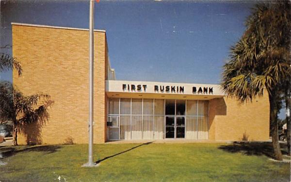 First Ruskin Bank Florida Postcard