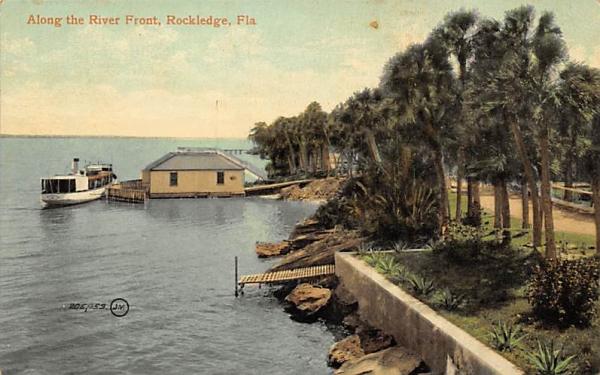 Along the River Front Rockledge, Florida Postcard