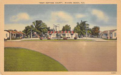 Kozy Kottage Kourt Riviera Beach, Florida Postcard